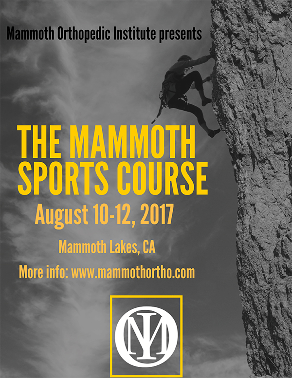 The Mammoth Sports Course august 10-12 2017