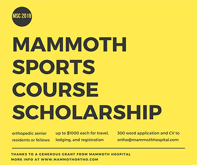 Fellow Sports Course Scholarship - March 2018